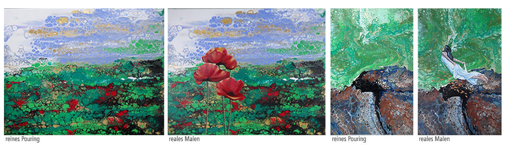 Acrylic Pouring Und Klassische Malerei Fantastische Welten Von Wolfgang Graue