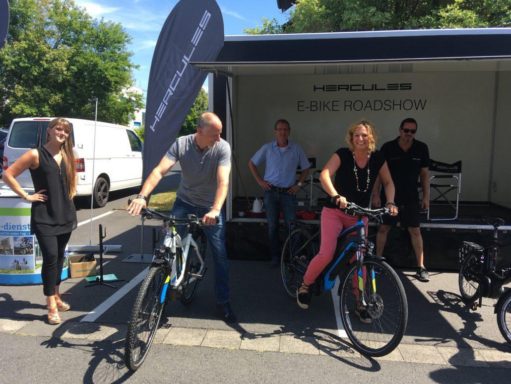 Fahrrad-Test beim Demo Day Gerstaecker Dienstrad