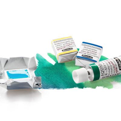 Aquarellfarben - Näpfchen oder Tuben