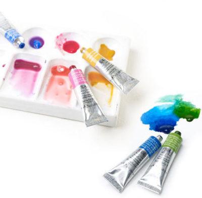 Aquarellmalerei Aquarellfarben selber mischen