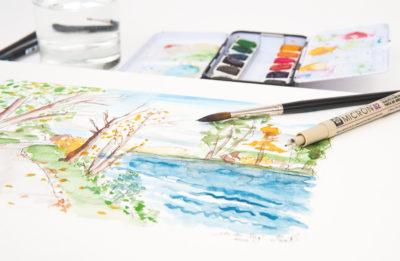Aquarellmalerei Landschaft Malreise