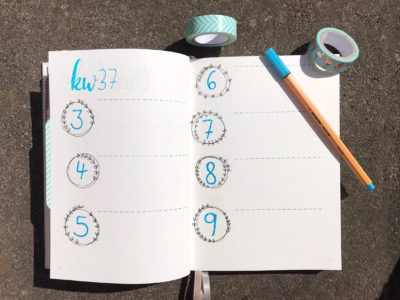 Bullet Journal Kalenderwoche