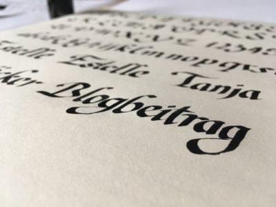 Ratgeber Kalligrafie - die Kunst des schönen Schreibens