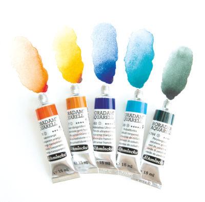 Was sind Aquarellfarben