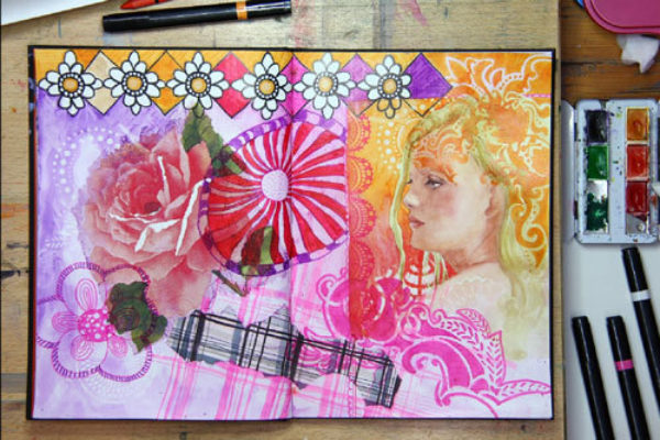 Susanne Absolon Mixed Media Journaling Step 10