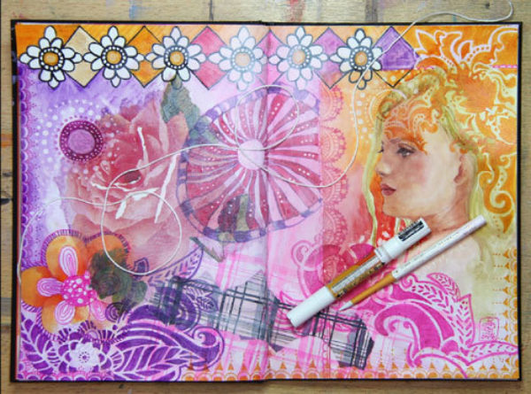 Susanne Absolon Mixed Media Journaling Step 11