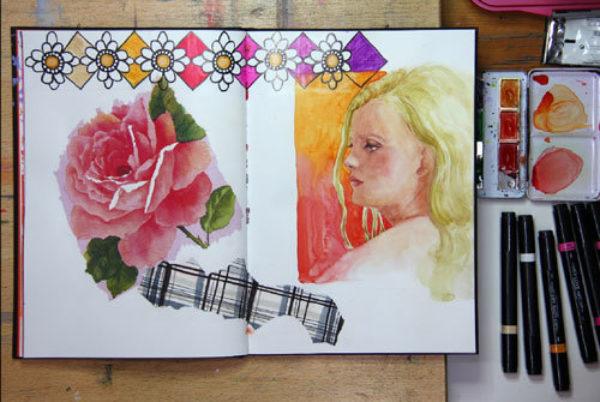 Susanne Absolon Mixed Media Journaling Step 5